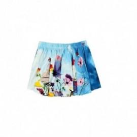 Boboli 435147-1100 Spódnica dziewczęca na gumeczce kolor niebieski