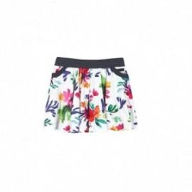 Boboli 455048-9753 Spódnica dziewczęca z nadrukiem kwiaty kolor zielony