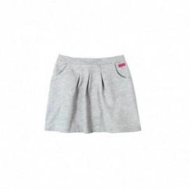 Boboli 465061-8018 Spódnica dziewczeca z kieszonkami i zakładkami kolor szary melanż