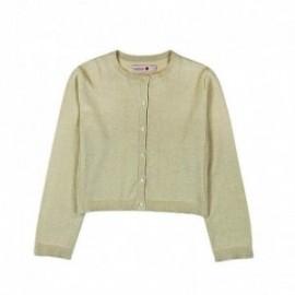 Boboli 725116-7308 Sweter dziewczęcy zapinany kolor piaskowy