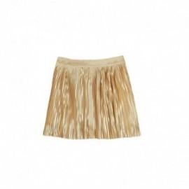Boboli 725273-7308 Spódnica dziewczęca plisowana na gumeczce kolor piaskowy