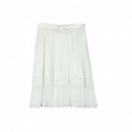 Boboli 725431-1111 Spódnica dziewczęca z koronki kolor krem