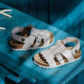 Mayoral 41870-90 Sandałki dziewczęce kolor biały