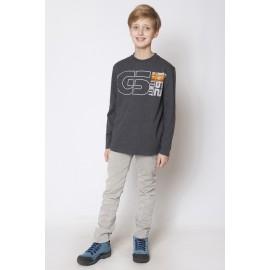 GF5 Koszulka chłopięca BBL-15-01-G23 kolor Ciemny szary melanż