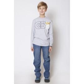 GF5 Koszulka chłopięca BBL-15-01-G8 kolor Jasny szary melanż