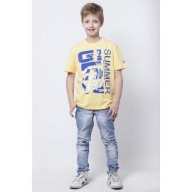 GF5 Koszulka chłopięca BTS-14-01-Y15 kolor Blady żółty