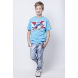 GF5 Koszulka chłopięca BTS-14-11-N24 kolor Błękitny