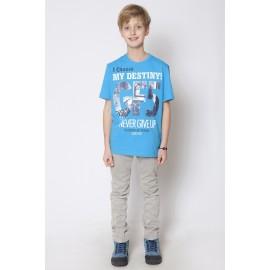 GF5 Koszulka chłopięca BTS-15-02-N29 kolor Niebieski