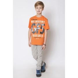 GF5 Koszulka chłopięca BTS-15-02-O7 kolor Pomarańczowy