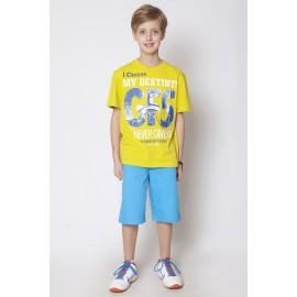 GF5 Koszulka chłopięca BTS-15-02-Z29 kolor Limonkowy