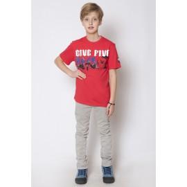 GF5 Koszulka chłopięca BTS-15-08-R7 kolor Czerwony