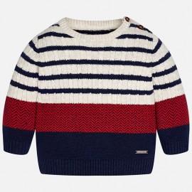 Mayoral 2321-83 Sweter chłopięcy w paski kolor jagoda