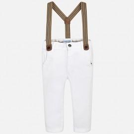 Mayoral 1542-66 Spodnie chłopięce z szelkami kolor Biały