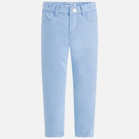 Mayoral 3506-20 Spodnie dziewczęce długie dzianina kolor Błękitny