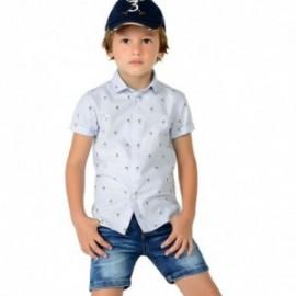 Mayoral 3148-65 Koszula chłopięca krótki rękaw palmy kolor Błękitny