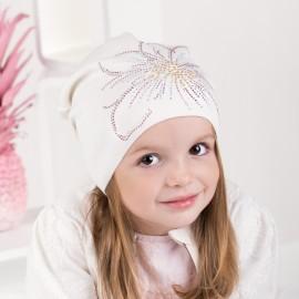 Jamiks czapka dziewczęca ADRIANA JWA102-2 kolor ekri