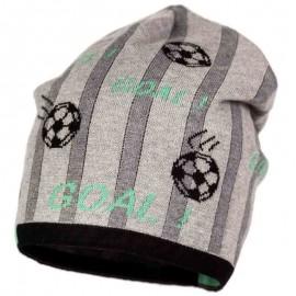 Jamiks czapka chłopięca ARIAN JWA040-1 kolor popiel/zielony