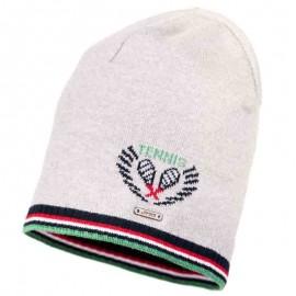 Jamiks czapka chłopięca BENTON JWA048-2 kolor popiel/zielony