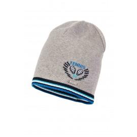 Jamiks czapka chłopięca BENTON JWA048-3 kolor popiel/modrak