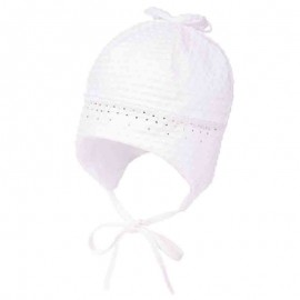Jamiks czapka dziewczęca EVELYN JWA065-1 kolor biały