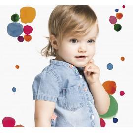 Boboli 215064-BLEACH Sukienka dla dziewczynki jeans zapinan kolor niebieski