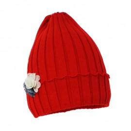 Pupil czapka dziewczęca Luca kolor czerwony