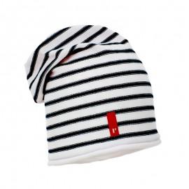 Pupil czapka dziewczęca Mery kolor biały/granat