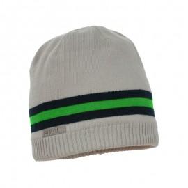 Pupil czapka chłopięca Caro kolor szary/zielony