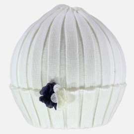 Pupil czapka dziewczęca Luca kolor krem