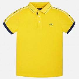 Mayoral 6136-28 Polo chłopięce krótki rękaw kolor żółty