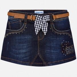 Mayoral 3904-982 Spódnica dziewczęca jeans z paskiem kolor granat