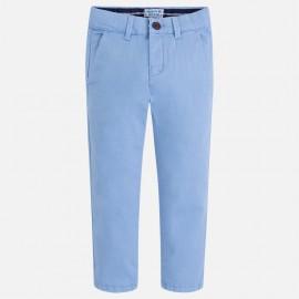 Mayoral 512-78 Spodnie chłopięce chinos z serży kolor niebieski