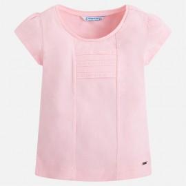 Mayoral 174-66 Koszulka dziewczęca Krótki Rękaw Basic Kolor róż