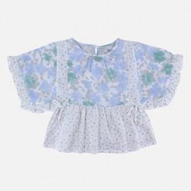 Dr.Kid DK438-000 bluzka dziewczęca w kwiaty kolor biały