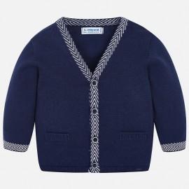 Mayoral 1326-17 Sweter chłopięcy rozpinany trykot kolor granat