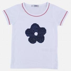 Dr.Kid DK401-000 bluzka dziewczęca cekiny kolor biały