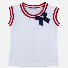 Dr.Kid DK412-000 bluzka dziewczęca kokardka kolor biały