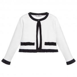 Dr.Kid DK415-000 sweterek dziewczęcy kolor biały