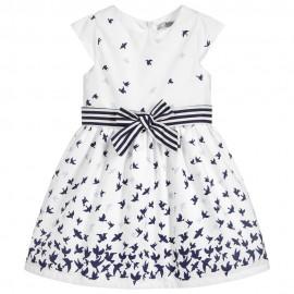 Dr.Kid DK414-000 sukienka dziewczęca elegancka kolor biały/granat