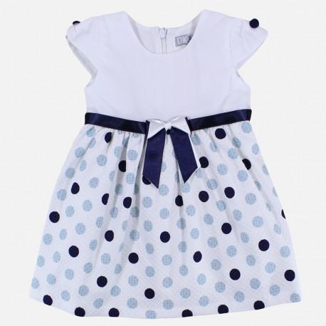 Dr.Kid DK319-000 sukienka dziewczęca elegancka kolor biały/granat