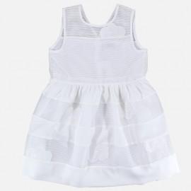 Dr.Kid DK492-000 sukienka dziewczęca elegancka kolor biały