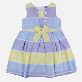 Dr.Kid DK493-200 sukienka dziewczęca elegancka kolor niebieski