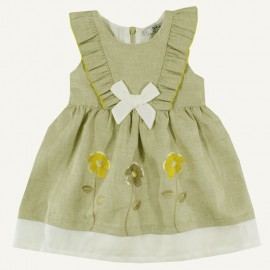 Dr.Kid DK361-320 sukienka dziewczęca elegancka kolor len