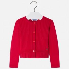Mayoral 3302-75 Sweter dziewczęcy kolor czerwony