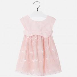 Mayoral 3916-32 Sukienka dziewczęca tiul z haftem kolor róż