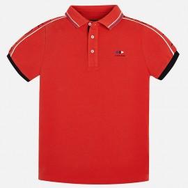 Mayoral 6136-27 Polo chłopięce krótki rękaw kolor czerwony