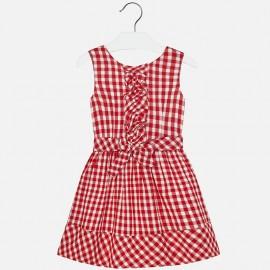 Mayoral 6950-16 Sukienka dziewczęca w kratkę vichy kolor czerwony