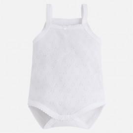 Mayoral 168-31 Body dla dziewczynki na ramiączkach kolor biały