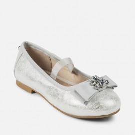 Mayoral 43863-69 Balerinki dziewczęce kolor srebrny