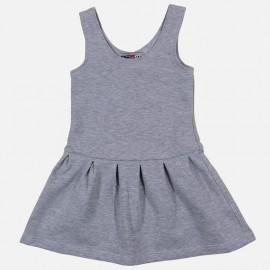 GF5 Sukienka dziewczęca GSK-17-01-G5 kolor Jasny szary melanż